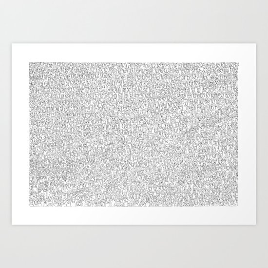 1000 imaginary friends and one bear Art Print