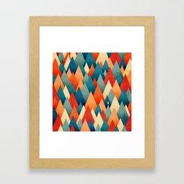 070 – deep into the autumn forest texture I Framed Art Print
