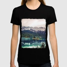 Green Blue Lake and Mountains - Eibsee, Germany T-shirt
