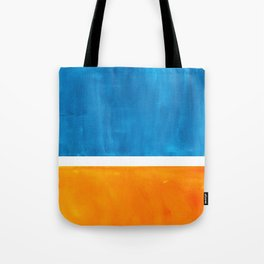 Colorful Jewel Tones Blue Gold Color Block Minimalist Watercolor Art Modern Simple Shapes Tote Bag