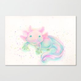 My sweet axolotl Canvas Print