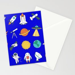 space astronaut Stationery Cards
