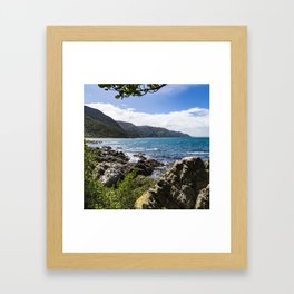 New Zealand Coastal View Framed Art Print