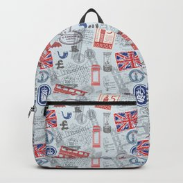 Travel England Seamless Pattern | Great Britain Adventure | UK Road Trip Backpack