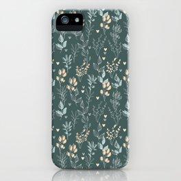 Scandinavian Botanical Pattern   Art Print   Flowers    iPhone Case
