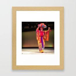 Okinawa Traditional Dancer Framed Art Print