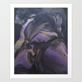 Purple Bird God Art Print