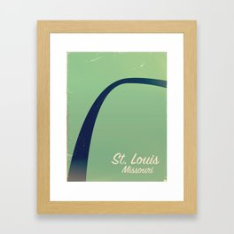 St. Louis, Missouri Memorial vintage travel poster Framed Art Print