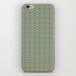 Southwestern Orange Turquoise Pattern iPhone Skin