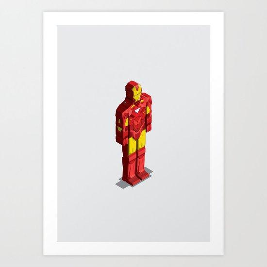 Ironman - Isometric Heroes Art Print