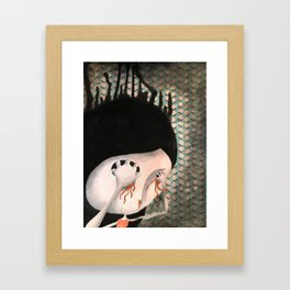 take your eyes out so you can see better Framed Art Print