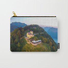 Mount Bre, Lugano, Switzerland Alpine Mountaintop Resort Restaurant lakeside photograph Carry-All Pouch