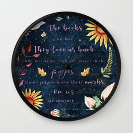 Books We Love Wall Clock