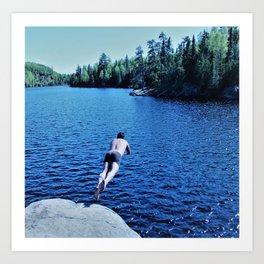 Boundary Waters Swimming Art Print