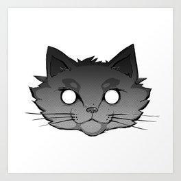 Halftone Cat Art Print