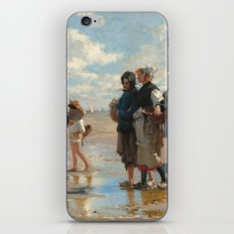 Setting Out to Fish Oil Painting by John Singer Sargent iPhone Skin
