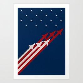 Stars and Ships Art Print