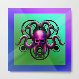 Skull Octopus Metal Print