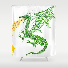 Starry Dragon Shower Curtain