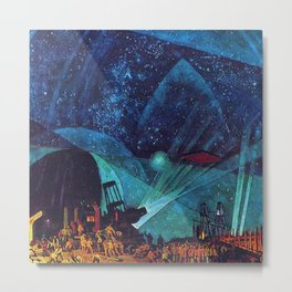 Planet Observatory, Planetarium, Power of the People, Stars & Constellations by Konstantin Yuon Metal Print