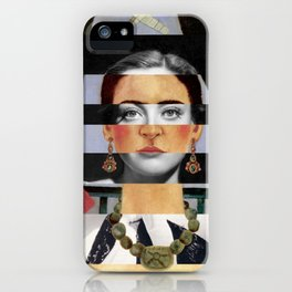 Frida Kahlo's Self Portrait Time Flies & Joan Crawford iPhone Case