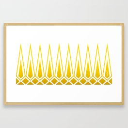 Mid Century Muse: Norms in Mustard Framed Art Print