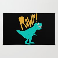 dino Area & Throw Rugs featuring Dino by Chelsea Herrick