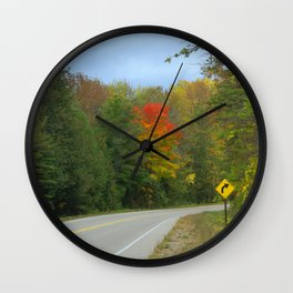 Autumn Round the Bend Wall Clock