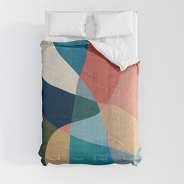 Waterfall and forest Comforters