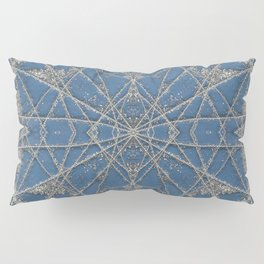 Snowflake Blue Pillow Sham