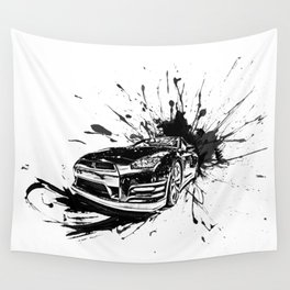 GTR Inked Wall Tapestry