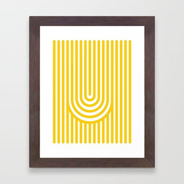 U, Framed Art Print