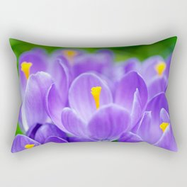 Group of blue crocuses Rectangular Pillow