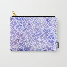 Lavender and white swirls doodles Carry-All Pouch