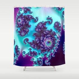 Jewel Tone Fractal Shower Curtain