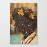 sagan Canvas Prints featuring Sagan flowers by Mariano Peccinetti