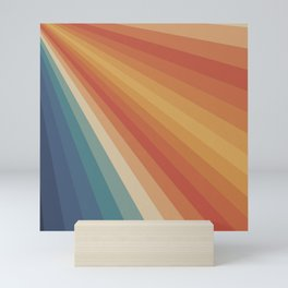 Retro 70s Sunrays Mini Art Print