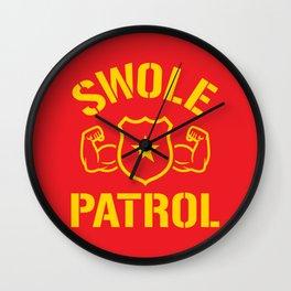 Swole Patrol Wall Clock