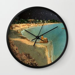 On the edge of reality Wall Clock