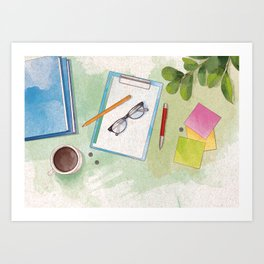office table Art Print