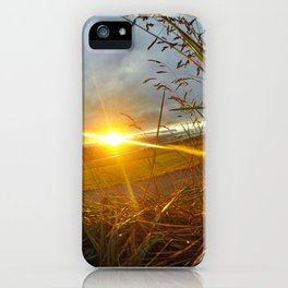 Icelandic Sunset from the Grass Roof of a Turf Farmhouse (2) iPhone Case