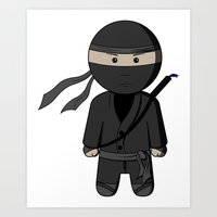ninja Art Prints featuring Ninja by Shyam13