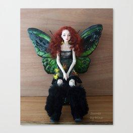 Enchanted doll Surrea in Wattle 2 Canvas Print