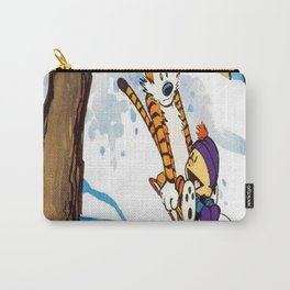 calvin and hobbes happy snow Carry-All Pouch