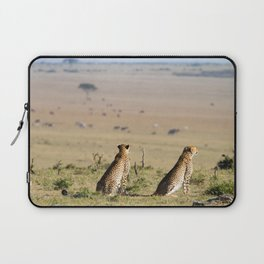Two cheetahs on the look out Laptop Sleeve