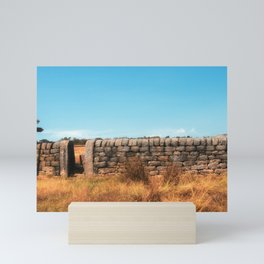walk this way -wooden signpost in bright autumn countryside Mini Art Print