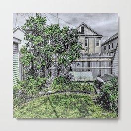 Virgil Avenue Yard Metal Print