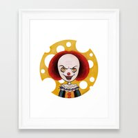 pennywise Framed Art Prints featuring Pennywise Cheese by ajd.abelita