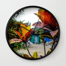 Dreamy Mexican Garden Wall Clock