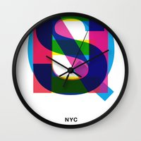 queens of the stone age Wall Clocks featuring Queens by Farnell